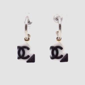 Preowned Chanel CC Cambon Dangle Stud Earrings